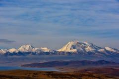 Tybet góry naimonanyi Manasarovar i jezioro Obrazy Royalty Free