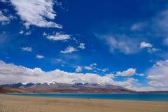 Tybet góry naimonanyi Manasarovar i jezioro Zdjęcia Stock