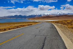 Tybet góry naimonanyi Manasarovar i jezioro Fotografia Royalty Free