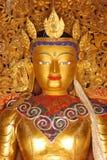 Tybet, gyantse, august 2010 - statua Buddha Obrazy Royalty Free