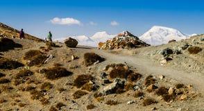 Tybet Kora wokoło góry Kailash Fotografia Stock