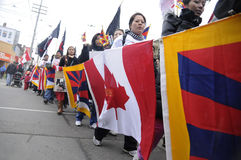Tybetańczyka protest. Fotografia Royalty Free