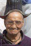 Tybetańscy Buddyjscy starzy człowiecy w Hemis monasterze Ladakh, Północny India Fotografia Stock