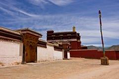 Tybetańska architektury tibetan świątynia Zdjęcia Stock