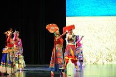 Tybetański mały ampuły skala scenariuszy show† drogowy legend† Obrazy Royalty Free
