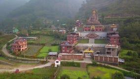 Tybetański monaster, Kathmandu dolina Nepal, Październik, - 17, 2017 zbiory