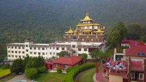 Tybetański monaster, Kathmandu dolina Nepal, Październik, - 17, 2017 zdjęcie wideo