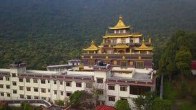 Tybetański monaster, Kathmandu dolina Nepal, Październik, - 17, 2017 zbiory wideo