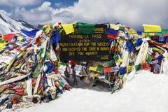 Tybetańskie flaga obraz royalty free