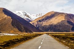 Tybetańskiego plateau scena zdjęcie stock
