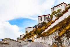 Tybetańskiego plateau sceny pałac Fotografia Stock
