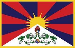 Tybetańczyk flaga w wektorze Fotografia Royalty Free