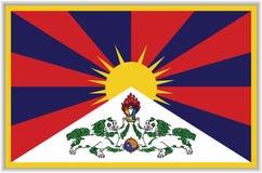 Tybetańczyk flaga z cieniem Zdjęcia Stock