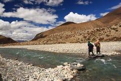 Tybetańscy ludzie Zdjęcia Royalty Free