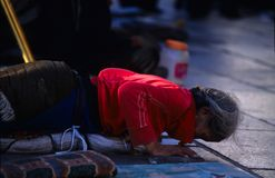 Tybetańscy pielgrzymi Zdjęcie Royalty Free
