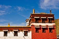Tybetańska architektura, Labrang Lamasery Zdjęcia Stock