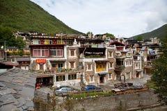 Tybetańska wioska w Sichuan, Chiny Obrazy Royalty Free
