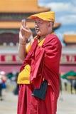 Tybetański michaelita na pogodnym plac tiananmen, Pekin, Chiny Zdjęcia Stock