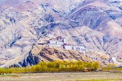 Tybetańskiego plateau sceny Zongshan Antyczny kasztel Obrazy Royalty Free