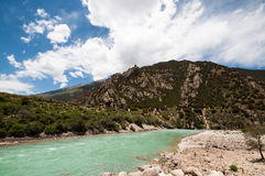 Tybetańska rzeka Obrazy Royalty Free
