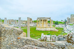 The Tyche Temple in Side Royalty Free Stock Photos
