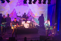 Tycho and band on stage Stock Image
