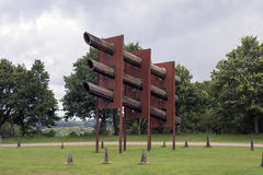 Tycho Brahe. VEJLE, DENMARK – AUGUST 22, 2016: Robert  Jacobsen, (1912-1993) Landscape Sculpture Tycho Brahe in Tørskind Gravel Pit is located at the south Stock Photo