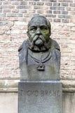Tycho Brahe zabytek w Kopenhaga, Denma zdjęcia stock