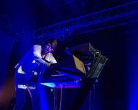 Tycho on stage using his equipment Royalty Free Stock Photography