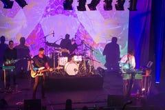 Tycho und Band auf Stadium Stockbild