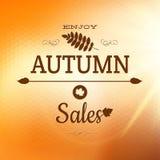 Tyck om Autumn Background 10 eps Royaltyfri Fotografi