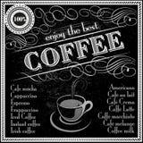 Tyck om den bästa menyn för kaffetypografidesignen Royaltyfria Foton