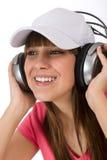 tyck om den lyckliga musiktonåringen för kvinnlign Arkivbilder