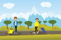 Tyck om din ferielopptur runt om världen på berget Royaltyfri Bild
