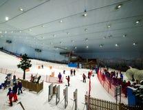 Tyck om insnöat öknen på Ski Dubai Fotografering för Bildbyråer
