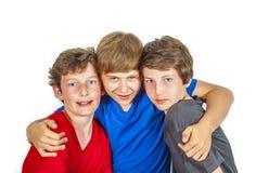 tyck om lycklig joyful livstid tre för vänner arkivfoton
