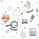 Tyck om morgonkillen vektor illustrationer
