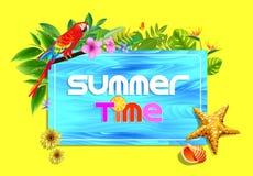 Tyck om sommar Tid i ferier vektor illustrationer