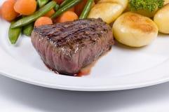 tyck om trevlig steak arkivbilder