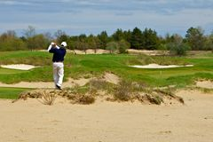 tycka om att leka för golfman Royaltyfri Fotografi