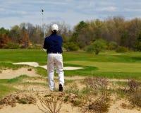 tycka om att leka för golfman Royaltyfri Bild