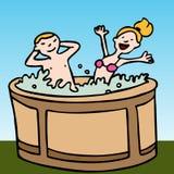 tycka om badar det varma folket Royaltyfri Bild