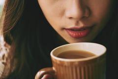 Tycka om kaffe Royaltyfria Bilder