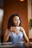 Tycka om kaffe Royaltyfri Foto