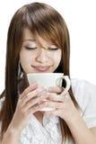 Tycka om koppen av kaffe royaltyfri bild