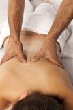 tycka om massagekvinnan royaltyfri bild