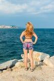 Tycka om på kusten arkivbilder