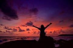 tycka om solnedgång Arkivfoton