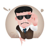 Tycoon. Character design, vector cartoon, office person, business man Royalty Free Stock Photography