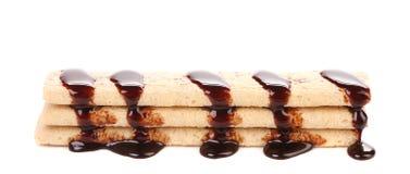 Tyczni opłatki pokrywający czekolada Fotografia Royalty Free